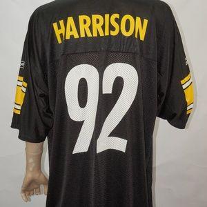 cc20d7d5212 Reebok Shirts - Pittsburgh Steelers James Harrison  92 Jersey